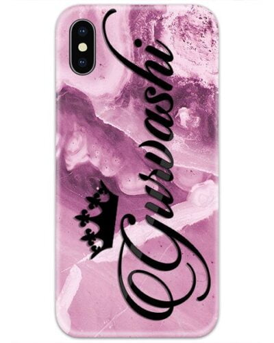 Magenta Marble Custom 4D Name Case