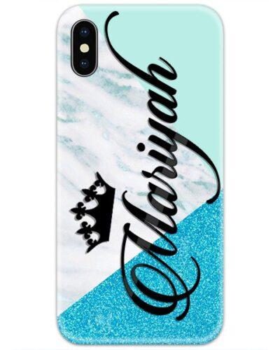 Blue White Glitter Custom 4D Name Case