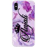 Iris Purple Marble Custom 4D Name Case