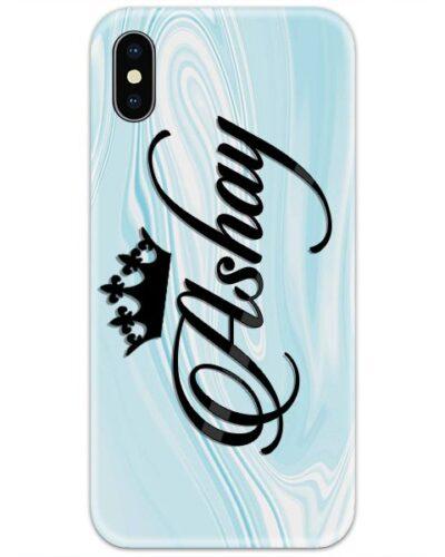 Teal Blue Marble Custom 4D Name Case