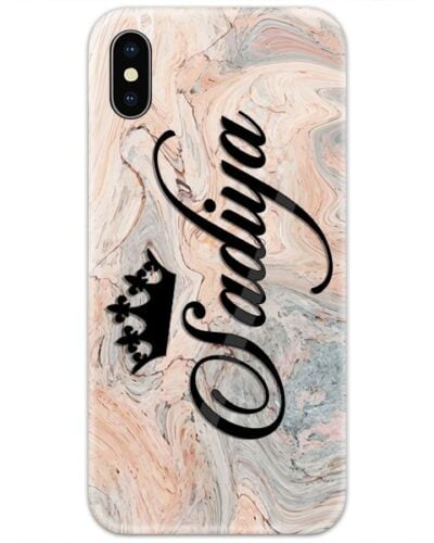 Wooden Brown Marble Custom 4D Name Case