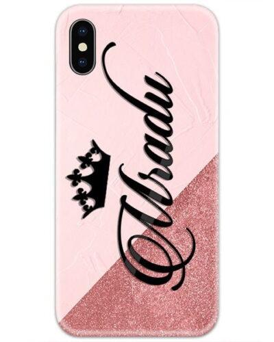 Brown Marble Glitter Custom 4D Name Case