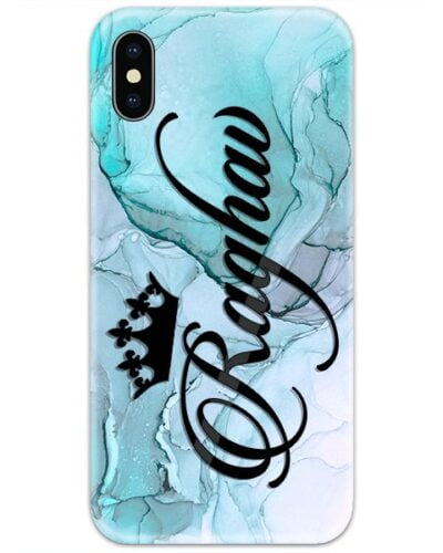 French Blue Marble Custom 4D Name Case