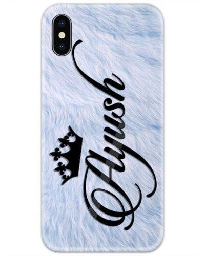 Blue Fur Custom 4D Name Case