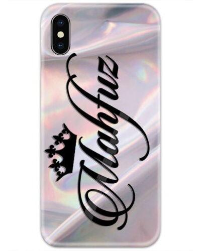 Silver Silk Shade Custom 4D Name Case