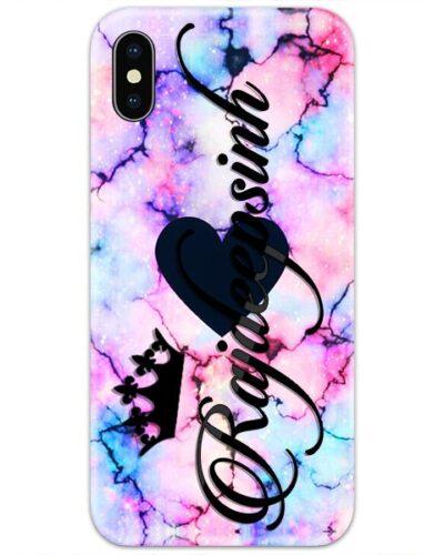 Blue Heart Marble Custom 4D Name Case