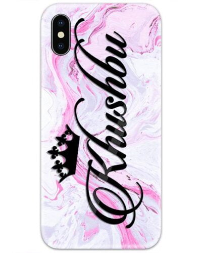 Rosewood Pink Marble Custom 4D Name Case