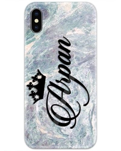 Graphite Marble Custom 4D Name Case