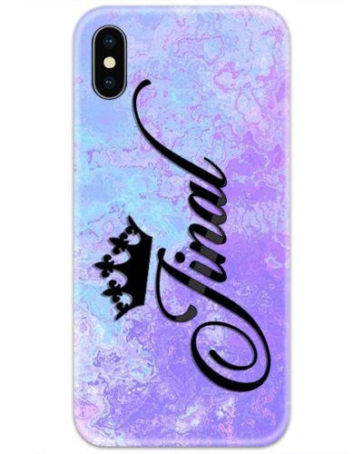 Orchid Blue Marble Custom 4D Name Case