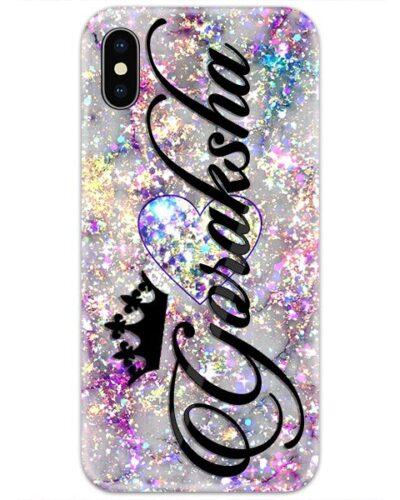 Glitter Heart Custom 4D Name Case