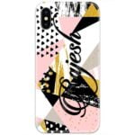 Triangle Shape Abstract Custom 4D Name Case