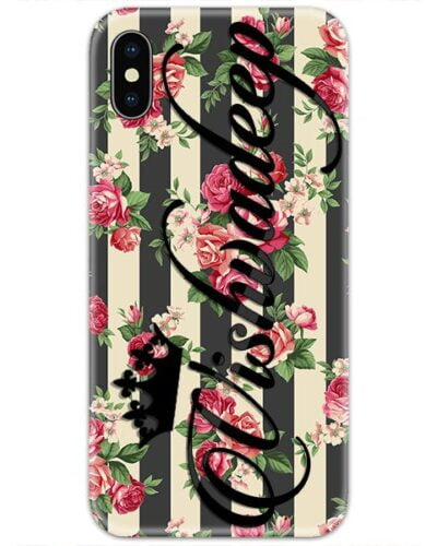 Roses Abstract Lines Custom 4D Name Case