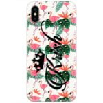 Flamingo Leaves Custom 4D Name Case