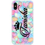 Hearts Dyed Colors Custom 4D Name Case