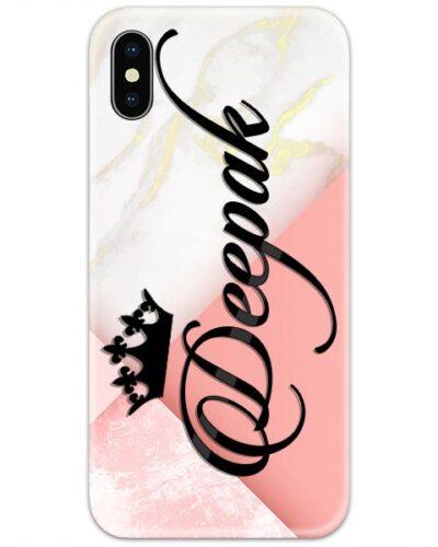 Golden Marble Pink Custom 4D Name Case