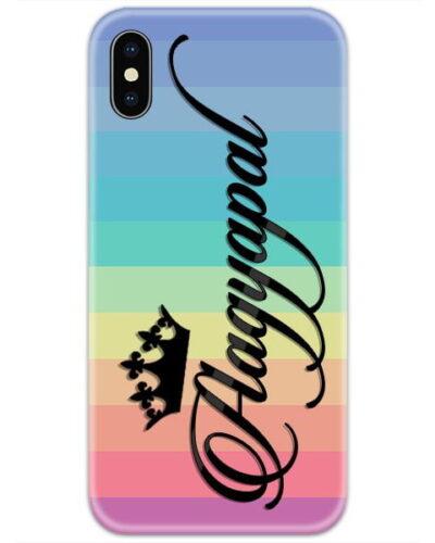 Rainbow Lines Custom 4D Name Case