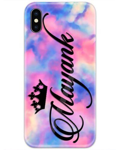 Colorful Dark Dye Gradient Custom 4D Name Case
