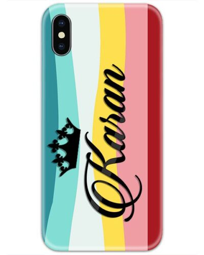 Multicolor Lines Art Custom 4D Name Case