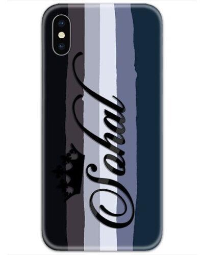 Multicolor Dark Lines Custom 4D Name Case