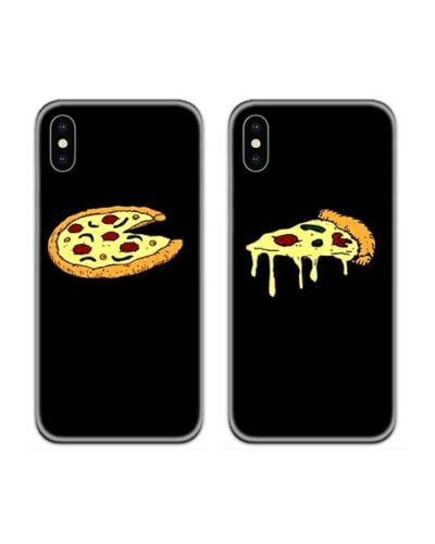 Pizza Lovers Couple Case Back Covers
