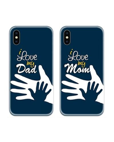 I Love My Mom Dad Couple Case Back Covers