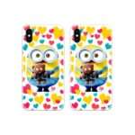 Minion with Teddy Couple Case Back Covers