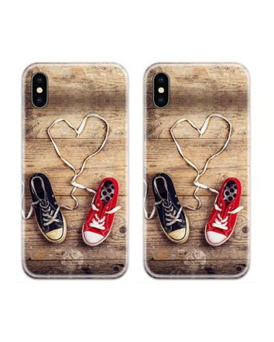 Heart Shoes Couple Case Back Covers
