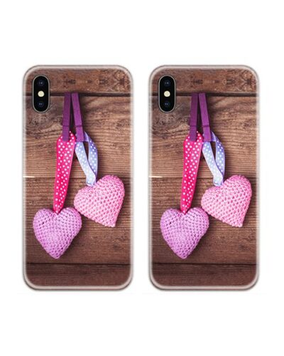 Hanging Hearts Couple Case Back Covers