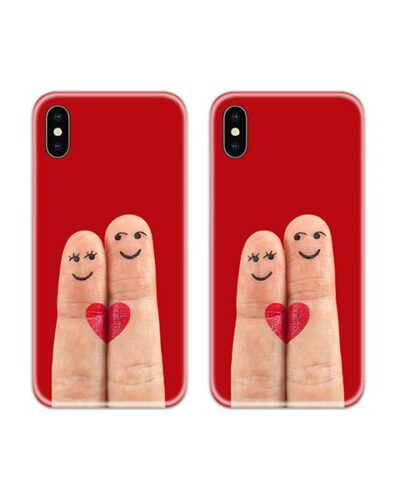 Loving Fingers Couple Case Back Covers