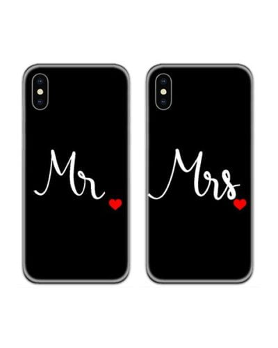 Mr and Mrs Heart Couple Case Back Covers