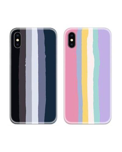 Rainbow Dark Light Couple Case Back Covers
