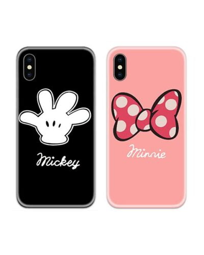 Mickey Minnie Art Couple Case Back Covers