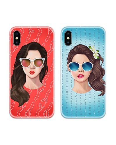 Funky Girls Sunglasses Couple Case Back Covers