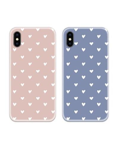 Pop Color Heart Couple Case Back Covers