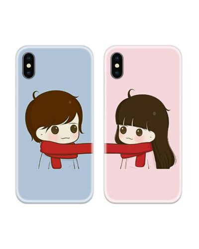 Winter Couple Case Back Covers