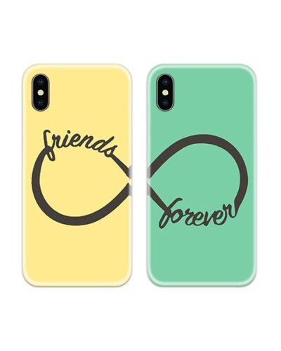 Friends Forever Infinity Couple Case Back Covers