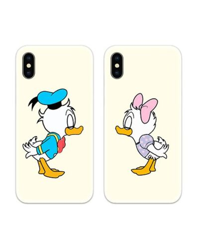 Donald Daisy Duck Kiss Couple Case Back Covers