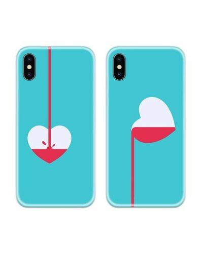 Heart Filler Couple Case Back Covers