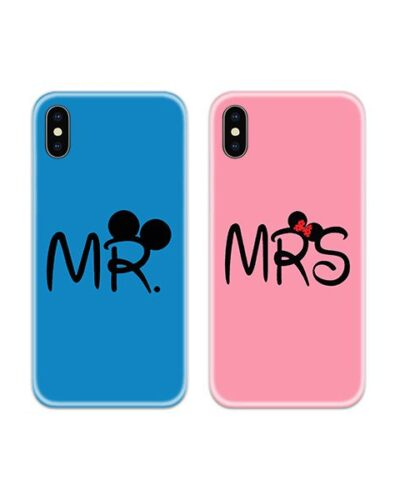 Mr and Mrs Mouse Couple Case Back Covers