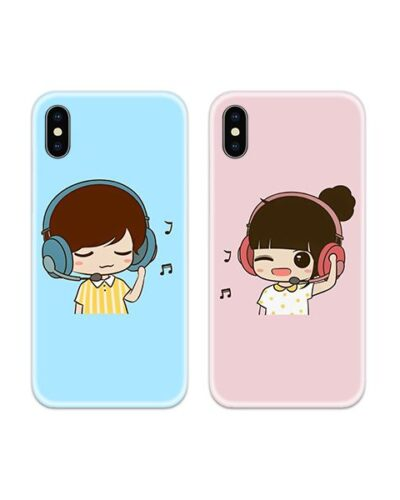 Music Couple Case Back Covers