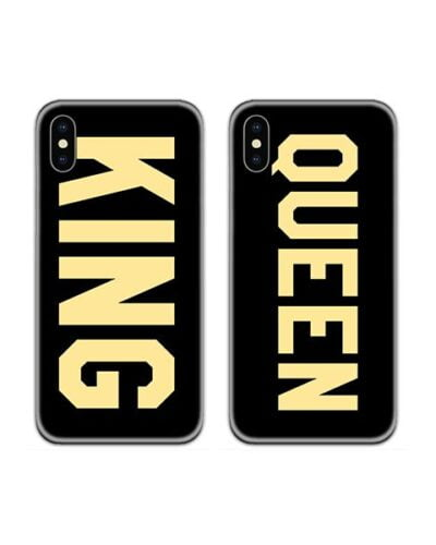 King Queen Bold Couple Case Back Covers