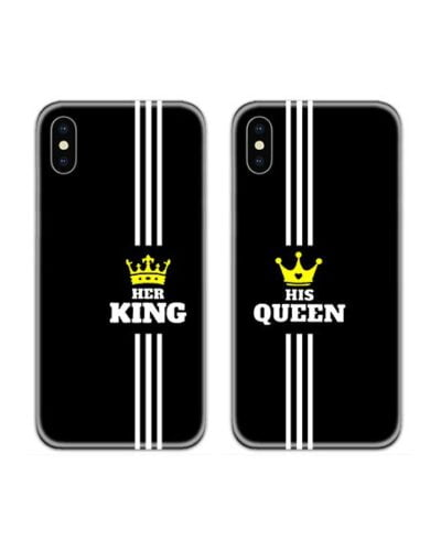 Her King His Queen Couple Case Back Covers